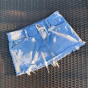 A&F Denim Mini Skirt Size 0